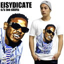 E1SYNDICATE / イーワンシンジケート 半袖Tシャツ Kendrick Lamar ケンドリック・ラマー ホワイトアーティスト キャラクター モノクロ フォト コラボアイテム スターウォーズ ディズニー マイリーサイラス リアーナ