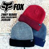 FOXのニット帽のワインとブラックとネイビー