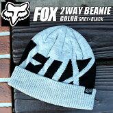 FOXのニット帽のグレー
