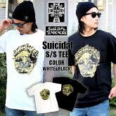 SUICIDALのスカルのグラフィックのTシャツ