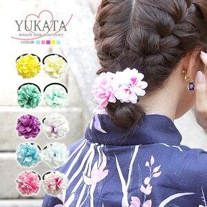Yukata Adorno para el pelo Flor elástica para el cabello Lindo 2 piezas BLAZE Accesorio para el cabello Acceso al cabello Peine para el cabello Flor artificial Yukata Estilo japonés Kimono Niños Niños