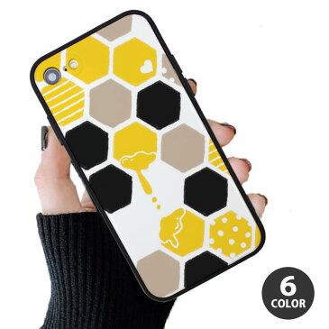 スマホケース プラスチック TPU 取り外し ハニカム柄 蜜蜂 ハチ みつばち はちみつ iphone11 iphoneXR iphoneXS iphone8 iPhoneケース TPU オシャレ かわいい 可愛い TPU ハードケース
