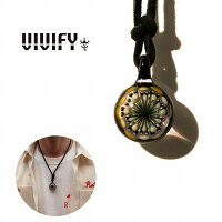 【VIVIFY正規店】VIVIFYビビファイネックレスグラスガラスFireworksLeatherNecklace(M)受注生産