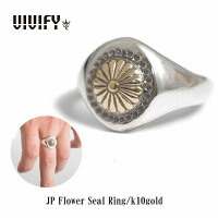 【VIVIFY正規店】VIVIFYビビファイリング指輪シルバーJPFlowerSealRing/k10gold受注生産