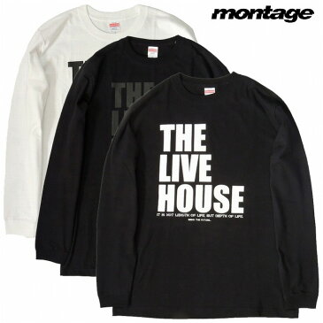 【25%OFFセール/あす楽対応】【montage 正規店】montage モンタージュ DEVILOCK TEARSOFSWAN ロンTEE THE LIVE HOUSE 3BRAND COLLABORATION L/S TEE