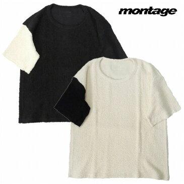 【送料無料/あす楽対応】【montage 正規店】montage モンタージュ パイルTシャツ 半袖 切替 MASSIVE PILE 切り替え