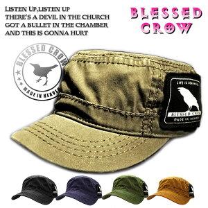 BlessedCrow ラベルデザイン ロゴ ワークキャップ メンズ 帽子
