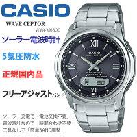 [n4]カシオ腕時計CASIOウェーブセプターwva-m630d-1a4jfメンズウォッチブラック(ローマ数字)[父の日ギフトプレゼントに]