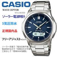 カシオ腕時計CASIOウェーブセプターWVA-M630D-2AJFメンズウォッチネイビー[父の日プレゼントに]