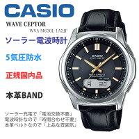 カシオメンズウォッチウェーブセプターソーラー電波時計レザーバンドCASIOWVA-M630-1A2JF20,0[あす楽]腕時計国内モデルメーカー保証1年