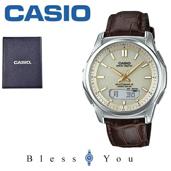 国内正規品 ソーラー電波時計カシオ腕時計CASIOウェーブセプター電波ソーラーレザーバンドCASIOWVA-M630L-9AJ