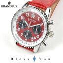 今だけ送料無料 グランドール メンズ 腕時計 クロノグラフ レザーベルト GRANDEUR OSC028W2