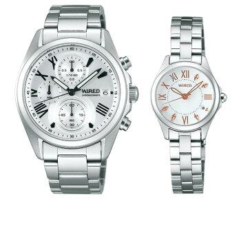 [新作]セイコーワイアード&ワイアードエフペアウォッチbk&whgSEIKOWIRED&WIREDfAGAT407-AGEK43032,0[腕時計ペアカップルブランドウォッチペアスタイル]