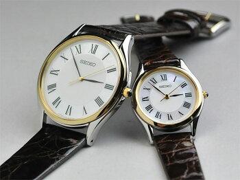 セイコー腕時計ドルチェ&エクセリーヌ薄型ペアウォッチレザーcombi【新品お取り寄せ】SEIKOSACM152-SWDL162ギフトfs2gm