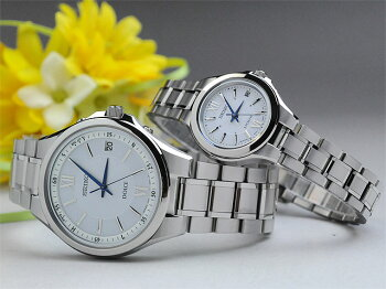 セイコー腕時計ドルチェ&エクセリーヌペアウォッチwhソーラー電波SEIKOSADZ133-SWCW033