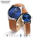 【】スイスミリタリー ペアウォッチ プリモ(blue) レザーバンド ML420-ML421 30,0 腕時計 ペア カップル ブランド ウォッチ SWISS MILITARY PRIMO *この商品は名入れできません・・・