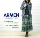 【送料無料】BCB別注*ARMEN(アーメン) コットン ポリエステル キルティング フードジャケット...