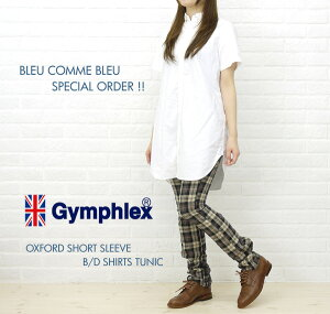 ★★【SEN-10022488】BCB別注*Gymphlex(ジムフレックス) OXFORD SHORT SLEEVE B/D SHIRTS TUNIC・J-0998YOX-BB-0321201【楽ギフ_包装】