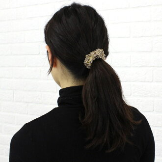 Abu (Abu) beaded scrunchie, KSH-5-2331302