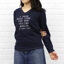 """楽天【40%OFF】【グッドウェア BCB別注*GOODWEAR】コットン Vネック 長袖 Tシャツ """"I HAVE MUCH TIME"""" 杢V-NECK L/SL T・NGW1151G1245-0341401【メール便可能商品】[M便 5/5]【トップス】【JP】"""