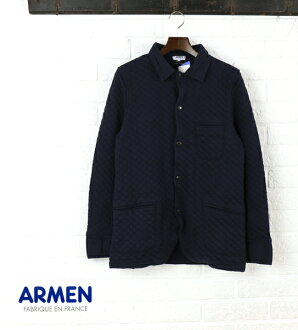 ARMEN (Amen) cotton polyester quilted shirt collar jacket-NAM0602-0341501