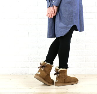 "(Ugg Australia) UGG Australia Sheepskin short boots ""W MINI BAILEY BOW""-1005082-2541402"