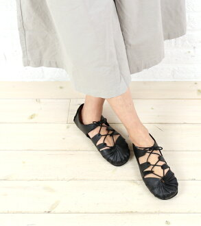 """Jeffrey Campbell (Jeffrey Campbell) レザーレースアップローカット flat shoes """"t-16""""-T-16-0341301"""