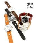 ILBISONTE(イルビゾンテ)レザー型押しレザーカレンダー付きクォーツ式腕時計リストウォッチ(S)・5422310397-A