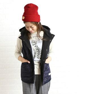 ARMEN (Amen) polyester quilted hooded reversible vest-NAM0971-0341302