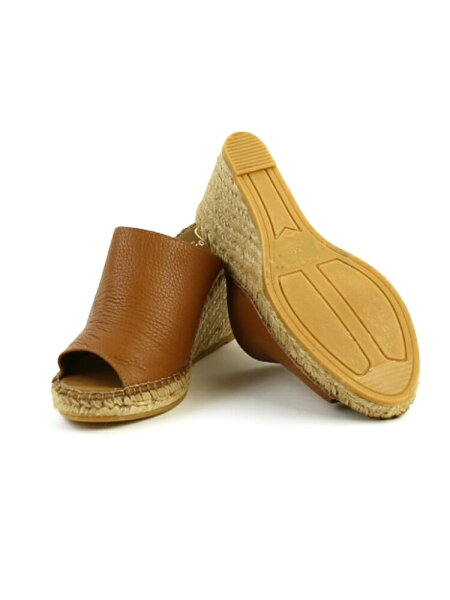 245158459561 February  GAIMO (ガイモ) leather opening toe mule espadrille jute ...