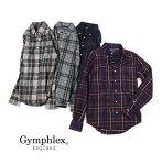 Gymphlex(ジムフレックス)コットンビエラ起毛フランネルメンズ長袖ボタンダウンシャツネルシャツ・J-0643VHC