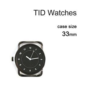 【ティッドウォッチズ TID Watches】 No.1 Collection 33mm 腕時計 文字盤 ブラックケース/ブラックダイアル・148433-3701801【メンズ】【レディース】【1F-W】【last_1】