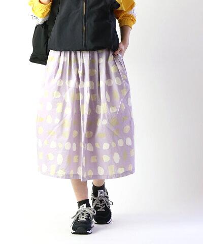【30%OFF】【グランマ・ママ・ドーター GRANDMA MAMA DAUGHTER by KATO'】コットンタイプライター kakera タック プリーツスカート ロングスカート・GK911052-4331901【レディース】