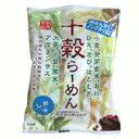 国内(北海道、岩手県、岐阜県)で栽培された十種の穀物を配合して作られた、油で揚げないノンフライ麺しかも無かんすいです。十穀らーめん しお味 87g 桜井食品
