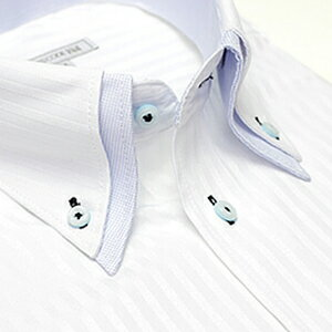 襟高デザイン ドレスシャツ(ダブルカラー)ワイシャツ 長袖 白 メンズ 長袖 ワイシャツ Yシャツ 形態安定 豊富なサイズ ビジネスや結婚式に スリムからゆったりまで 黒 シャツ 価格 [白シャツ] ギフト