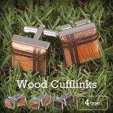 【送料無料】ギフト・プレゼントに・・・安心の日本製木製カフスボタンメンズカフリンクスcufflinksウッドカフスおしゃれ父の日誕生日パーティユニーク