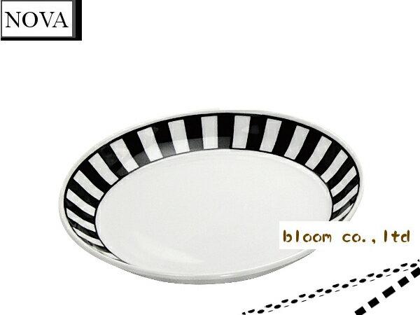 美濃焼/単売/ギフト対象外 ノヴァ中皿/ボーダート【径15.5x2.5cm】【dish,plate,made in japan】【bloom-plus】