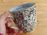 【アウトレット】美濃焼 ギフト対象外 ネジリ花絵 マグカップ 青 【径9x高9cm 330ml】【ネジリ花絵のかわいい マグ, マグカップ,はな】 【Mug.mug,made in japan】【bloom-plus】