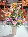 豪華な光触媒 アートフラワー アレンジ Iタイプ 送料無料 空気清浄機 造花 アレンジ 母の日 インテリア 贈り物 ギフト お誕生日 記念日…
