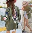 【★再入荷!!!★】ミリタリージャケット オルテガ刺繍 ネイティブ ミリタリーシャツ カーキ
