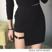 ミニスカートセクシースリットタイトスカート美脚スカート裾不規則