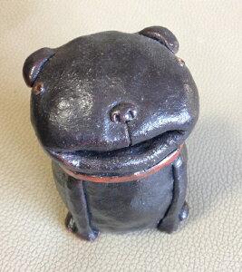 富田木工所のわんこ パグのくろすけ【陶器】【ハンドメイド】