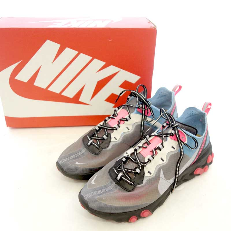 メンズ靴, スニーカー NIKE REACT ELEMENT 87 AQ1090 006 US10.5 A 103 60B20