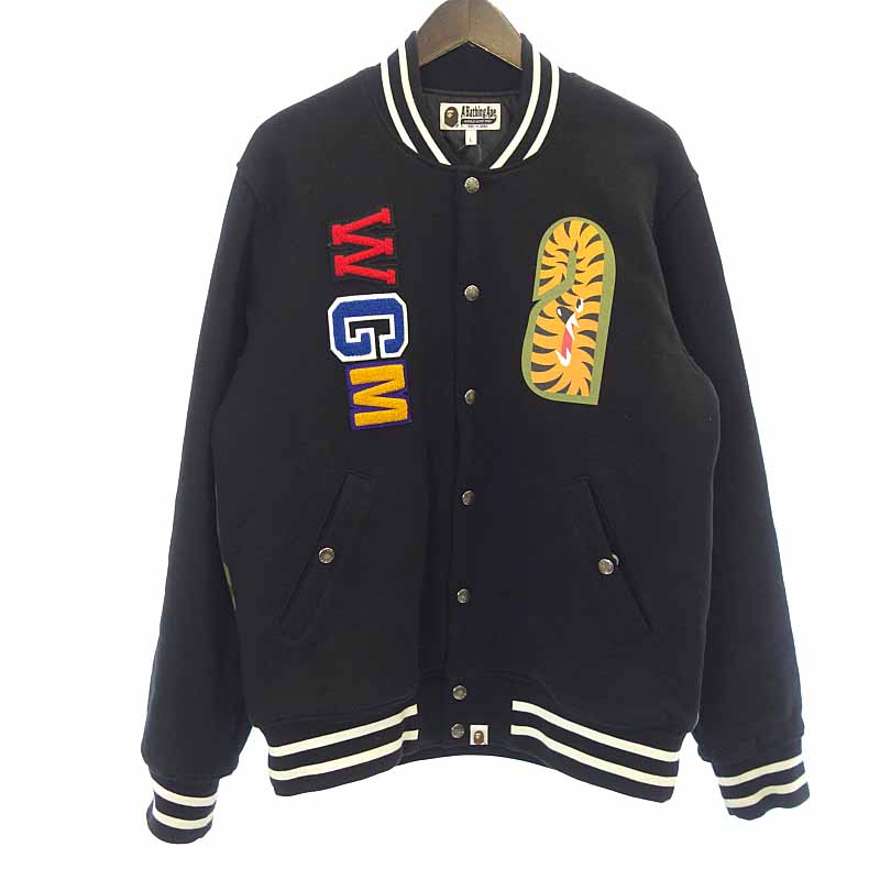 A Bathing Ape varsity jacket A BATHING APE SHARK...