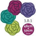 トイレマット:【SDS】ローズ フリーマットS 48×50cm(グリー...