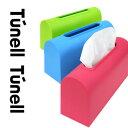 【Tunell】ティッシュケース(ブラック/グリーン/ブルー/ピンク/ホワイト)(ティッシュボックス/プラスティック製/ティッシュ/スリム/レザー調)【05P03Dec16】
