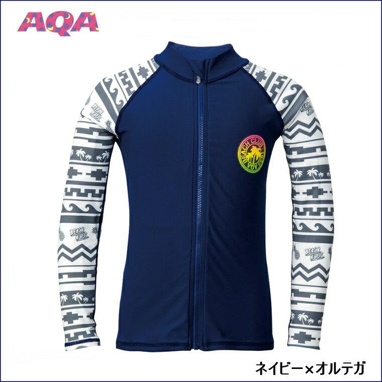 AQA(エーキューエー)シーラックスラッシュガードロングジップジュニアII[KW-4502A]