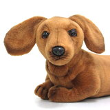 [ハンサ][4002]ミニチュアダックスフンド(仔)-DACHSHUND PUP-HANSAのリアルな動物ぬいぐるみです。