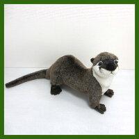 ハンサ[3319]カワウソ(這い・B)-standingotter-ファニーフェイス!カワウソさんHANSAのリアルな動物ぬいぐるみです。