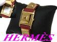 【中古】▽エルメス HERMES▽メドール レザーベルト 腕時計 スイス製